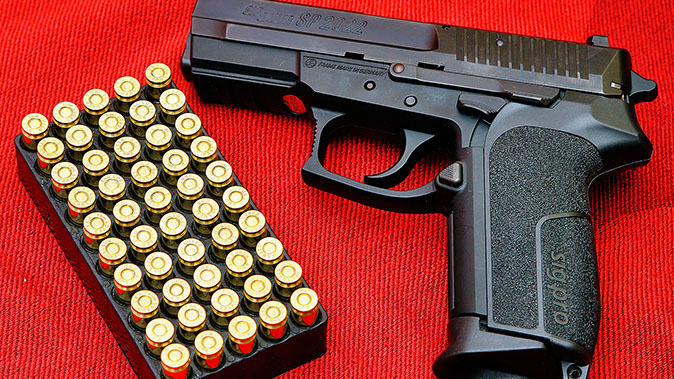 french national police sig sauer p2022 pistol
