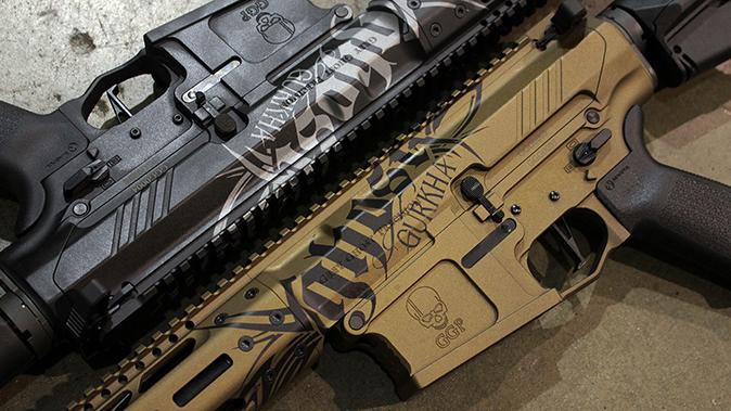 Gurkha Grey Ghost rifles closeup
