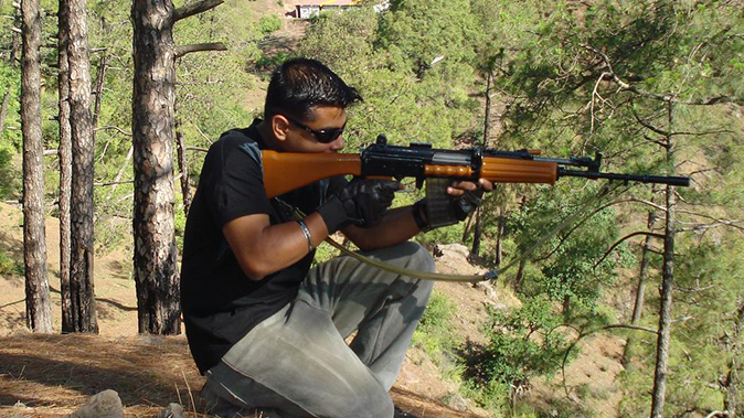 indian army insas rifle aiming