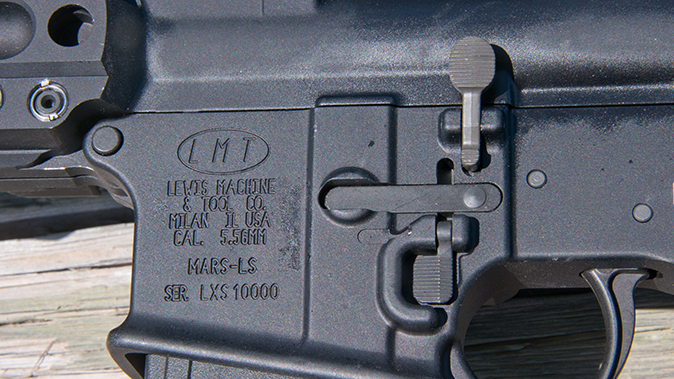 LMT MARS-L rifle left side controls