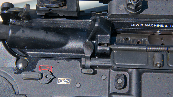 LMT MARS-L rifle right side controls