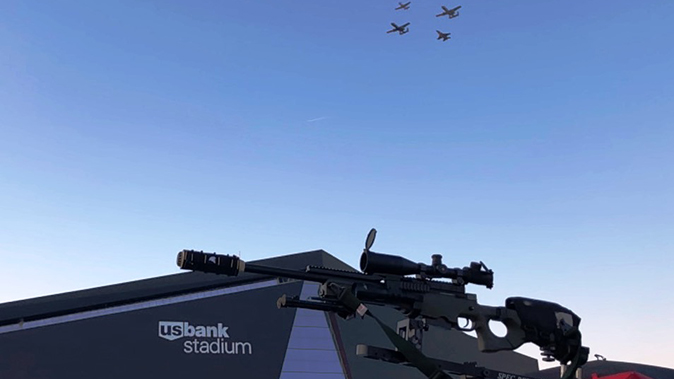 minneapolis police super bowl 52 oss suppressors rifle flyover