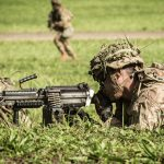army next generation squad weapon m249 saw firing left angle
