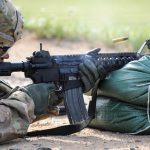 army next generation squad weapon m4 carbine firing right profile