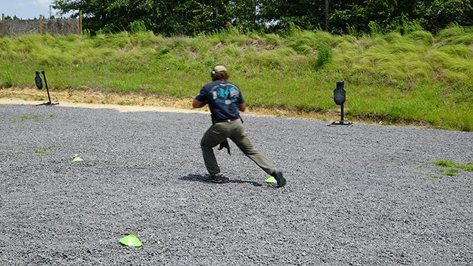 Pat McNamara gunfight mobility tactics stepping to the left