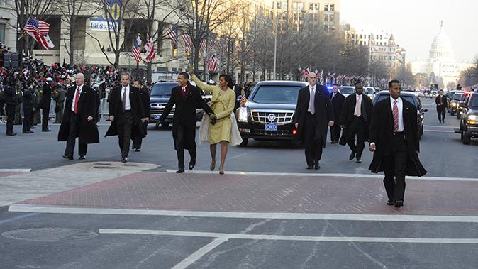 police cruisers obama family inauguration