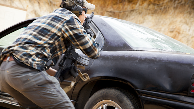 aaron barruga police shootout car running