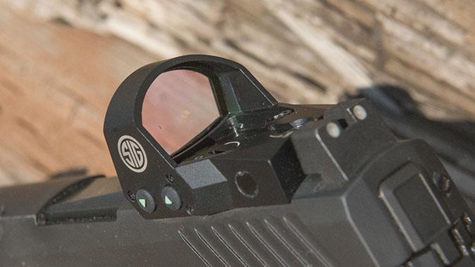 Sig p320 pistol romeo1 sight