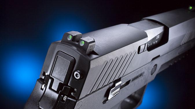 Sig p320 pistol rear sight