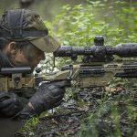 Steyr SSG 08-A1 rifle shooting