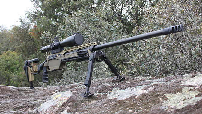 Steyr SSG 08-A1 rifle angle