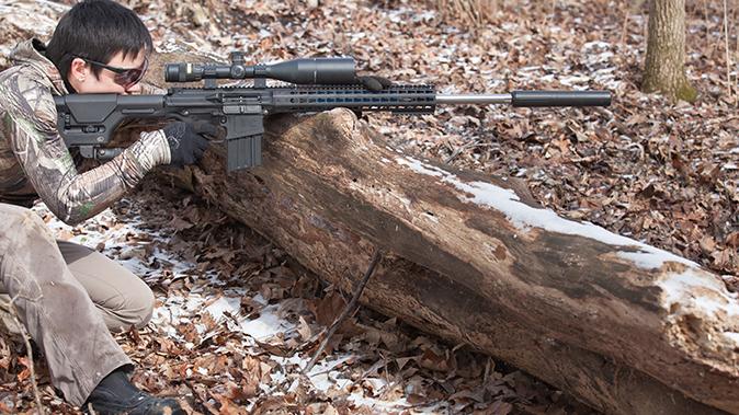 6.5 creedmoor rifle shooting