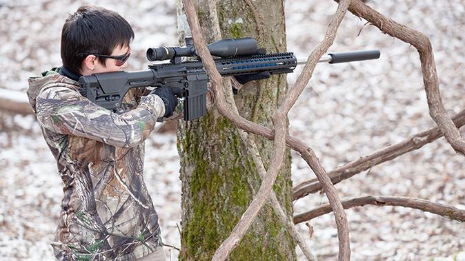 6.5 creedmoor rifle tree shooting