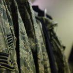 air force army combat uniform closeup