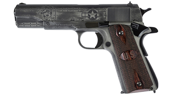 auto-ordnance victory girls 1911 pistol left profile