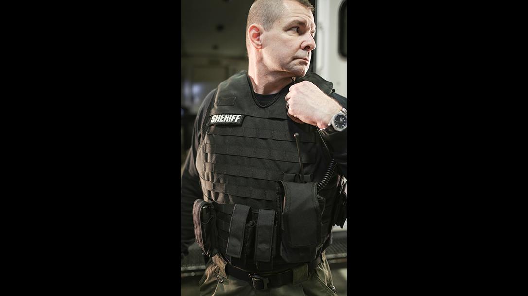 bullet resistant body armor police vest