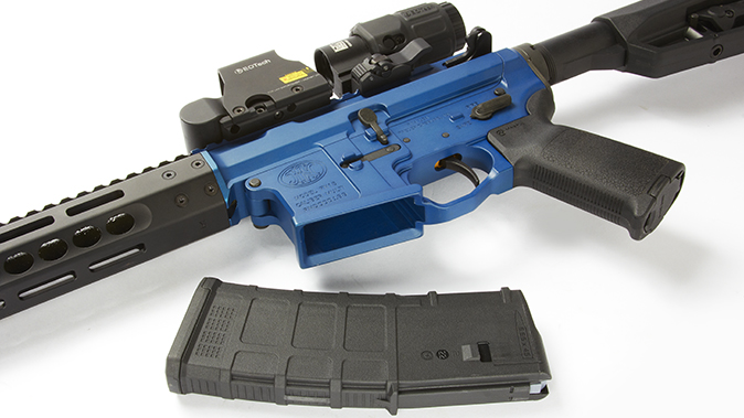FN 15 Competition rifle magazine well