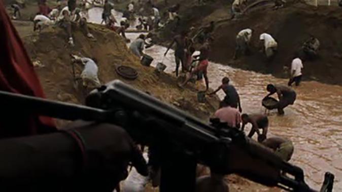 ak-47 rifle blood diamond labor pit