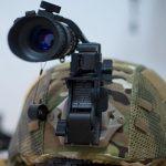 AN/PVS-14 Night Vision Monoculars on helmet