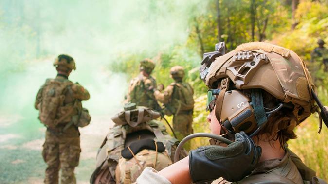 IHPS helmet soldier closeup