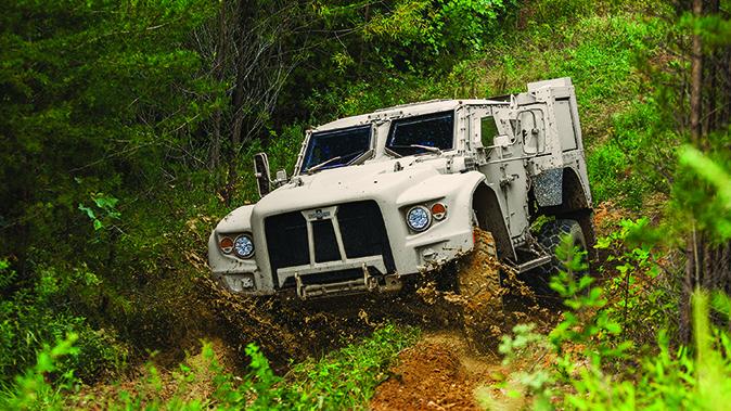 Oshkosh JLTV vehicle front angle
