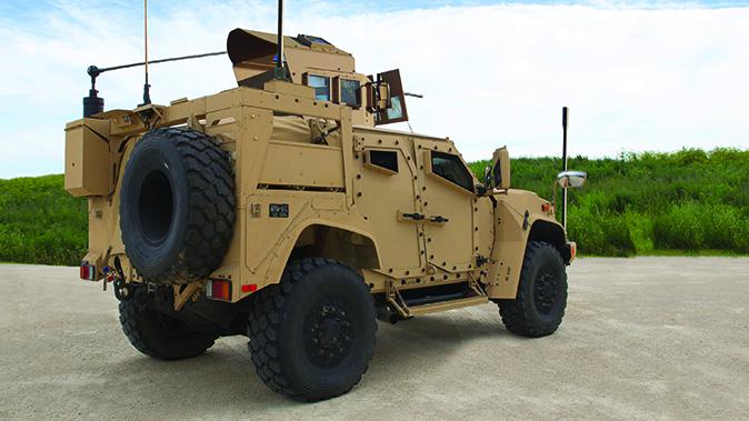 Oshkosh JLTV turret