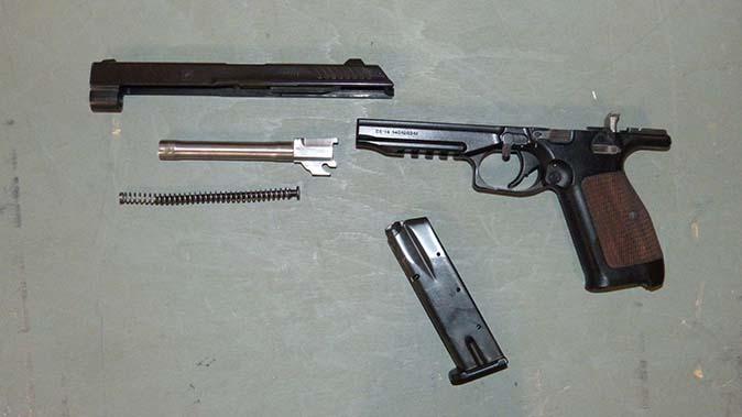 kalashnikov pl-14 handgun disassembled