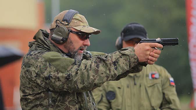 kalashnikov pl-14 handgun shooting
