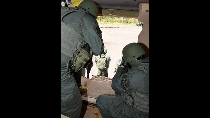 mrap vehicle police rear door