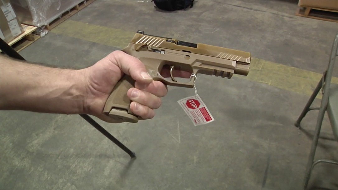 modular handgun system pistol right profile