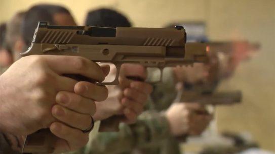 101st airborne modular handgun system range test