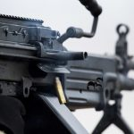 army Next Generation Squad Automatic Rifle m249 closeup