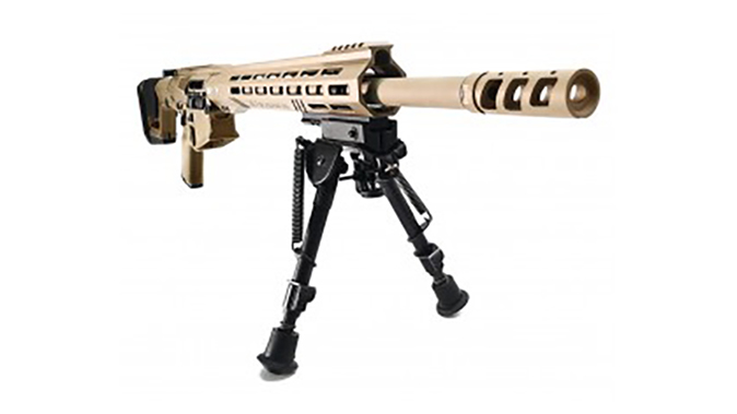 Rise Armament 1121XR rifle ebipod front angle