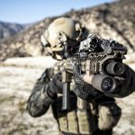 tactical shooting soldier aiming rifle