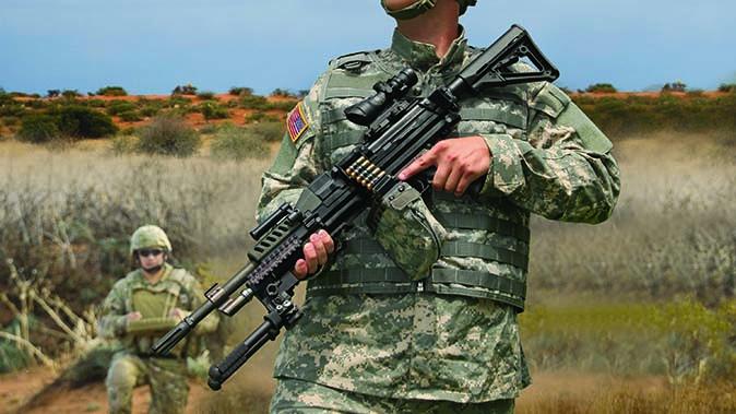 textron systems lightweight small arms technology machine gun