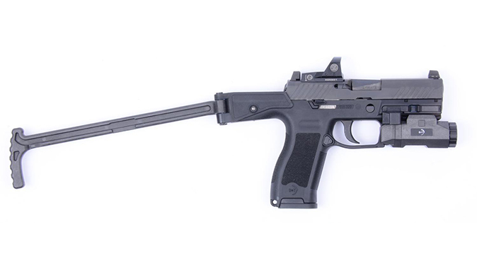 B&T USW-320 stock extended right profile
