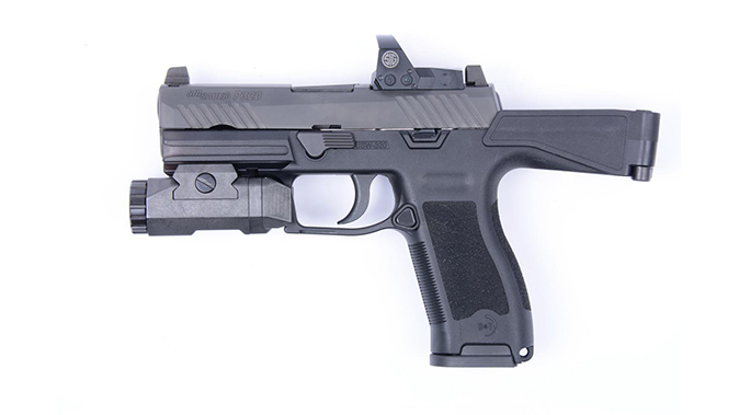 B&T USW-320 stock folded left profile
