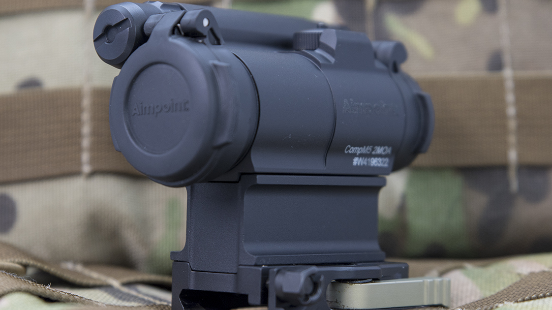 Aimpoint CompM5 red dot optic closed