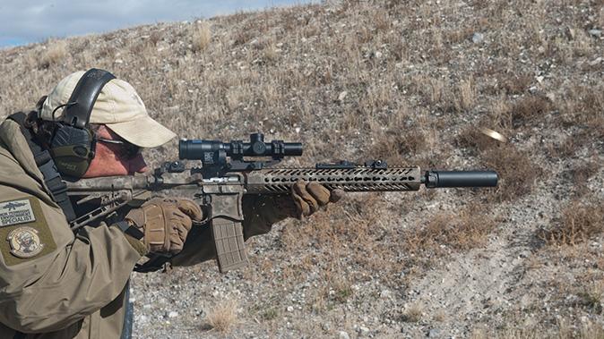 low-powered optics rifle brass flying