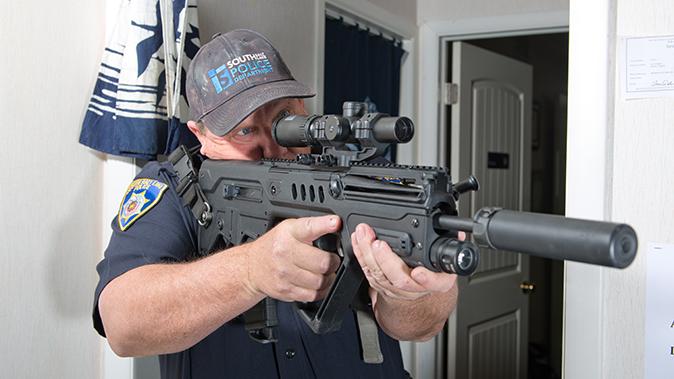 low-powered optics patrol rifle