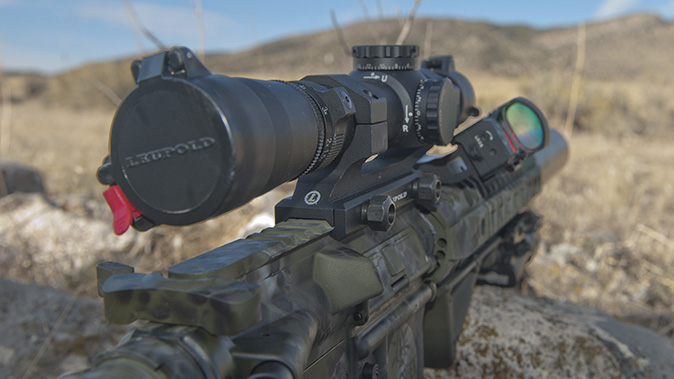low-powered optics backup iron sights