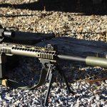 low-powered optics gun shooting