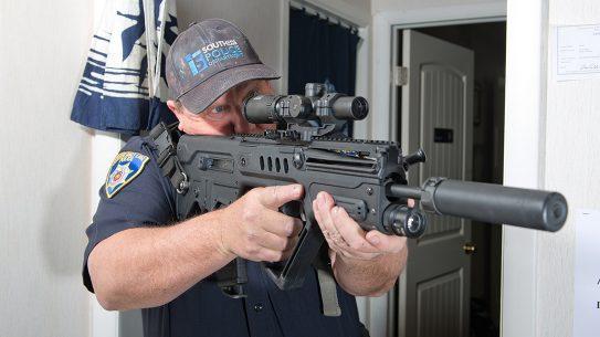 low-powered optics rifle