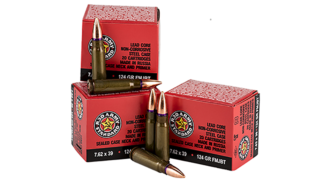 century arms red army standard AK ammunition bullets and boxes