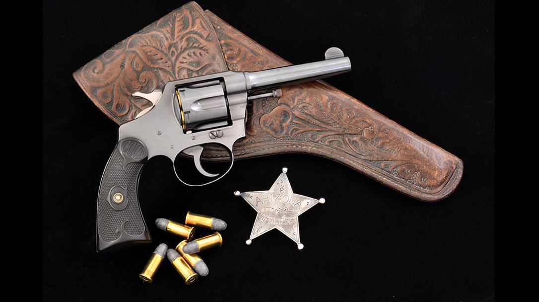 colt police positive revolver badge