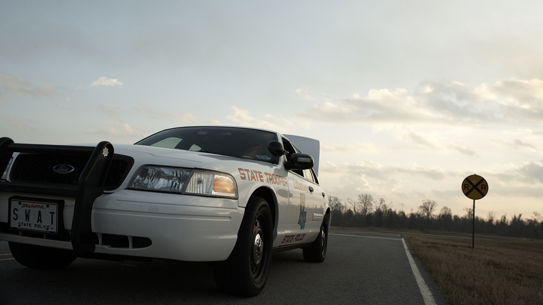 first responder driving car angle