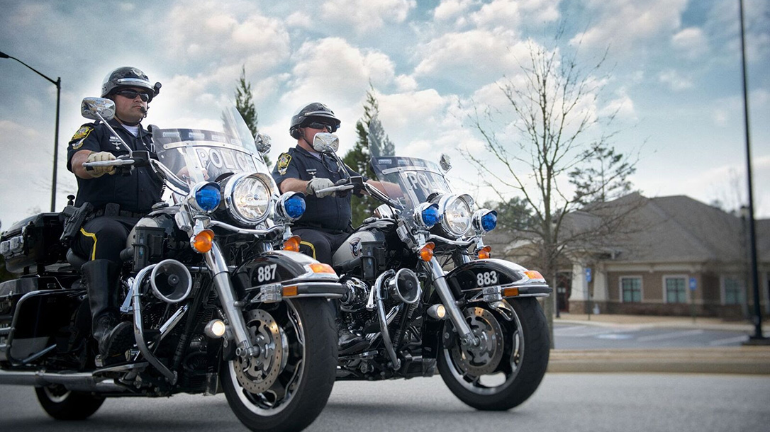 glock pistols police motorcycles