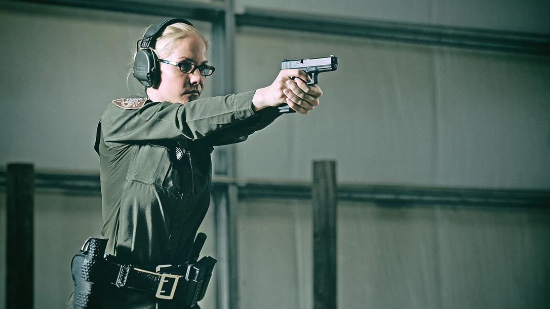 glock pistols female police officer