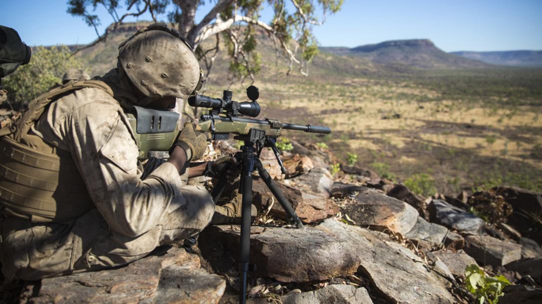 marines mk 13 mod 7 m40 sniper rifle mountain shooting