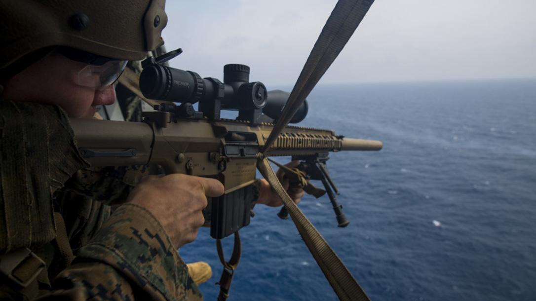 marines mk 13 mod 7 m40 sniper rifle aerial training